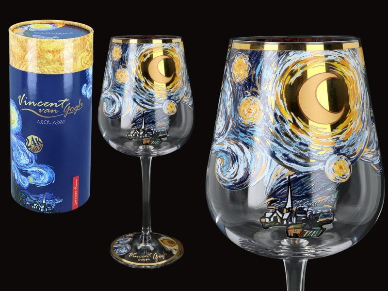 Sklenený kalich 540 ml, Vincent van GOGH The Starry Night, CARMANI, 8416510