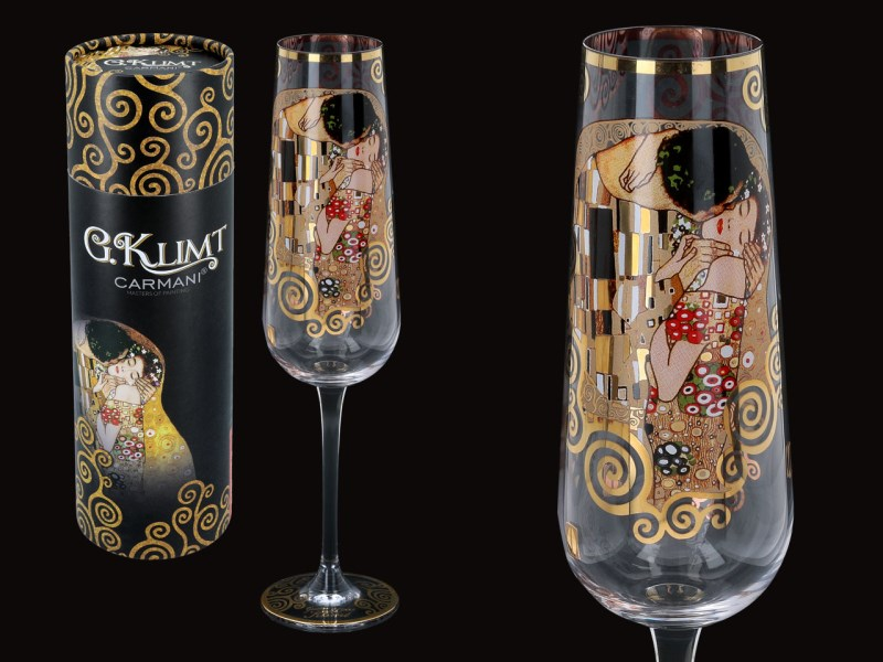 Sklenený kalich 220 ml Gustav  Klimt The Kiss, CARMANI 8413721