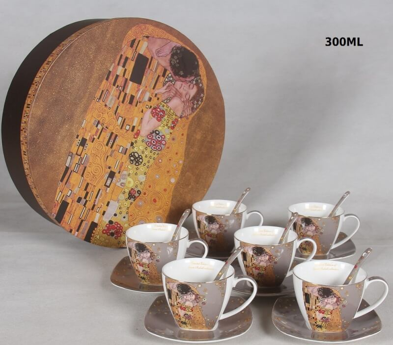 18 dielny porcelánový set, Gustav  Klimt The  Kiss, Queen Isabell