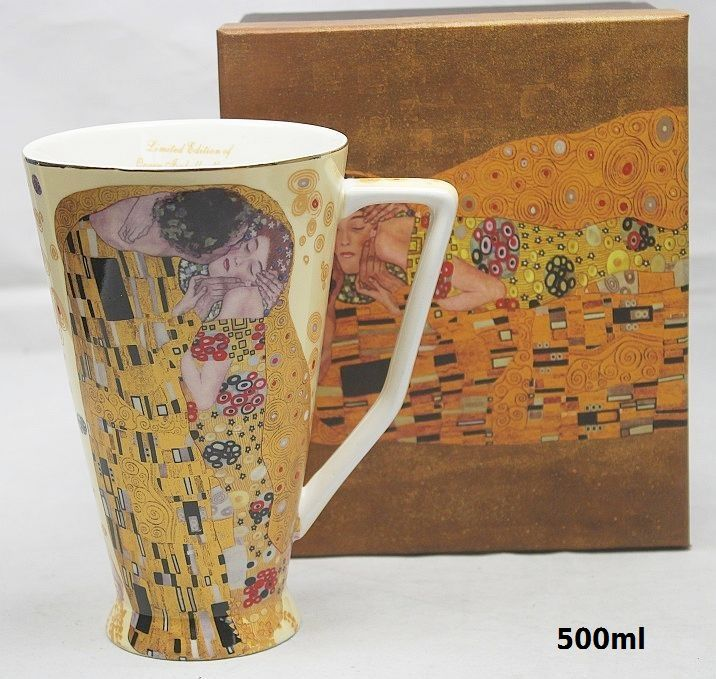 Hrnček 500 ml Gustav Klimt Kiss The Kiss, Queen Isabell, 09165