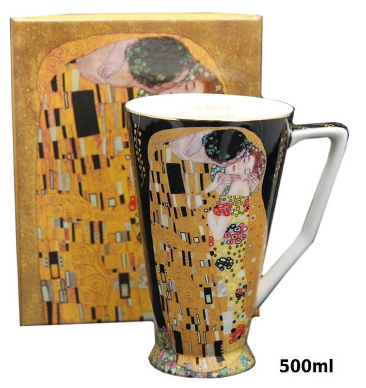 Hrnček 500 ml Gustav Klimt Kiss The Kiss, Queen Isabell, 16506