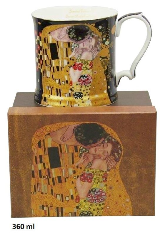 Hrnček 360 ml Gustav Klimt Kiss The Kiss, Queen Isabell, 09141