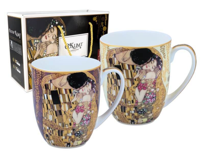 Hrnček 450 ml - set 2 kusov, Gustav Klimt The Kiss, CARMANI