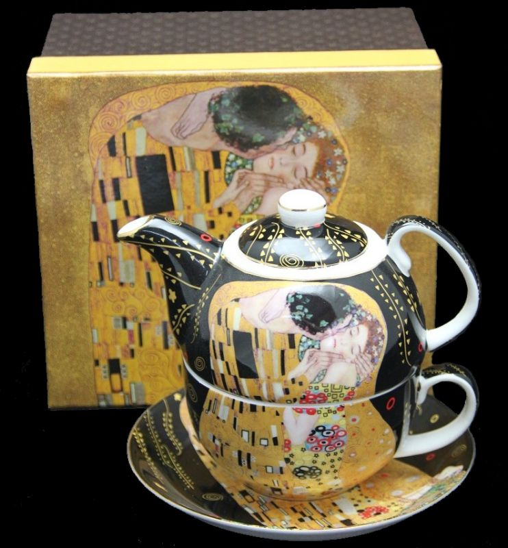 Tea for One Gustav Klimt Kiss 2 x 300 ml, Gustav  Klimt The  Kiss, Queen Isabell, 16537