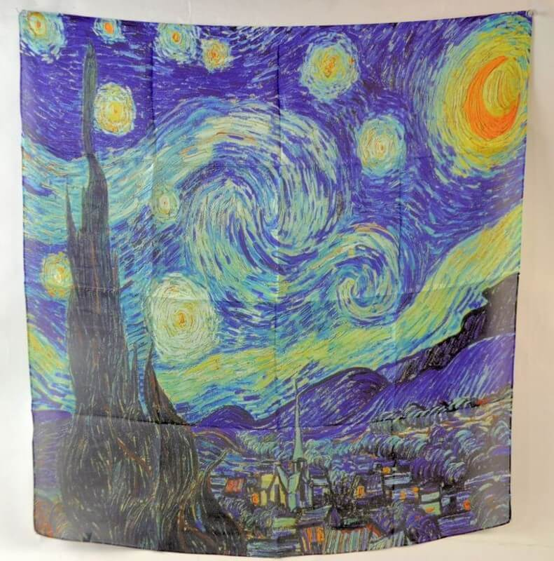 Šatka 70 x 70 cm Vincent van Gogh The Starry Night,517306