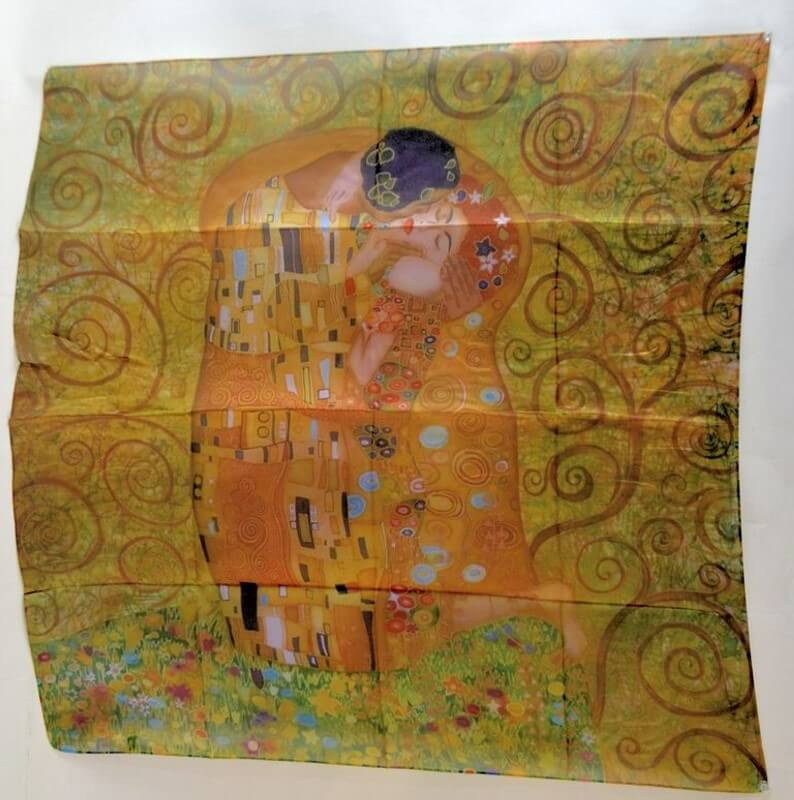 Šatka 70 x 70 cm Gustav Klimt The Kiss, 517300