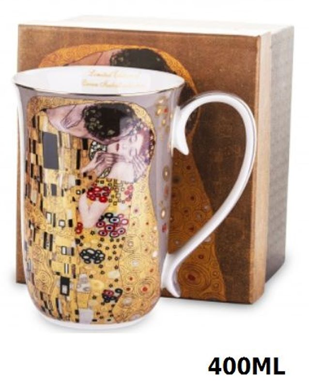 Hrnček 400 ml Gustav Klimt Kiss The Kiss, Queen Isabell, 09349