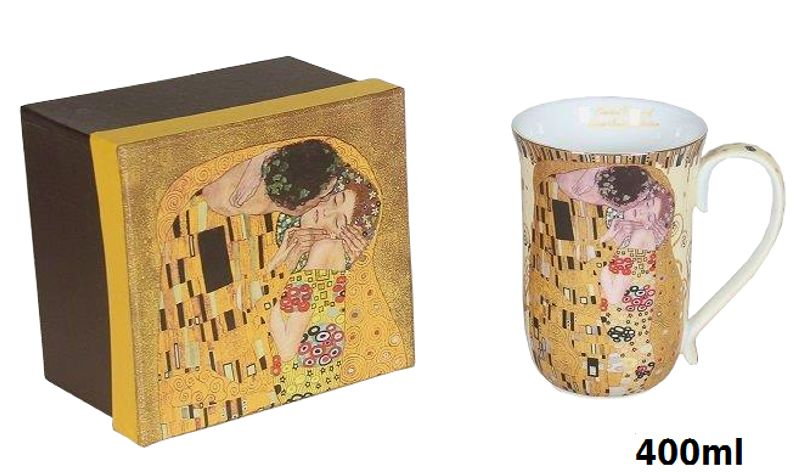 Hrnček 400 ml Gustav Klimt Kiss The Kiss, Queen Isabell, 22508