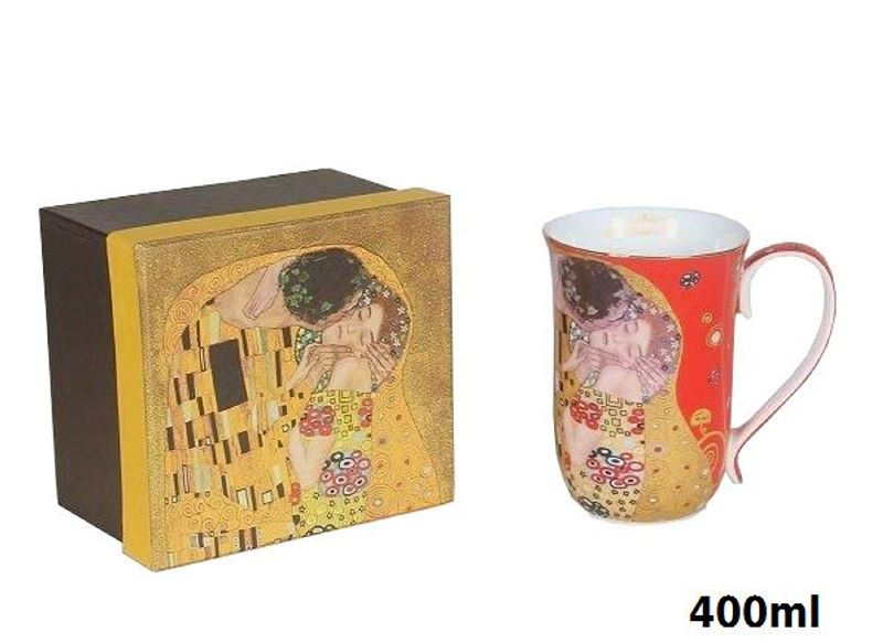 Hrnček 400 ml Gustav Klimt Kiss The Kiss, Queen Isabell, 22645