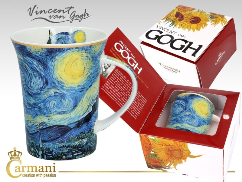 Hrnček 350 ml Vincent van Gogh  The Starry Night, CARMANI