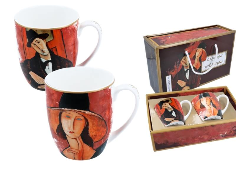 Hrnček 450 ml set 2 ks, Amedeo Modigliani, CARMANI