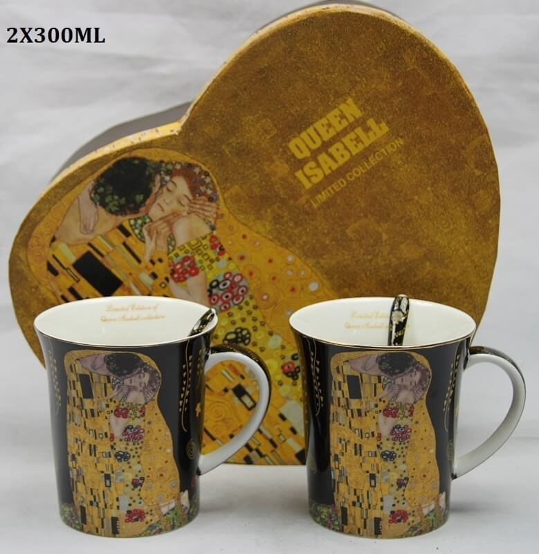 Set 2 ks hrnčekov 300 ml Gustav Klimt  The Kiss, Queen Isabell, 21157
