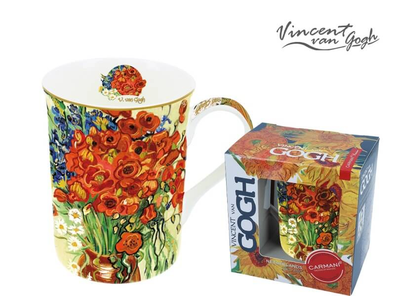 Hrnček 420  ml Vincent van Gogh Red Poppies and Daisies, CARMANI 8302306