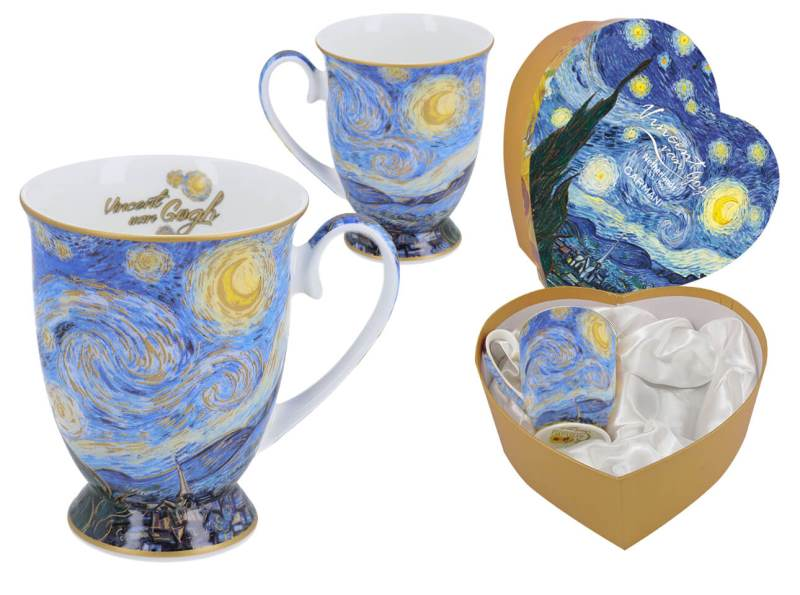 Hrnček 280 ml - set 2 ks  Vincent van Gogh The Starry Night, CARMANI  8300310