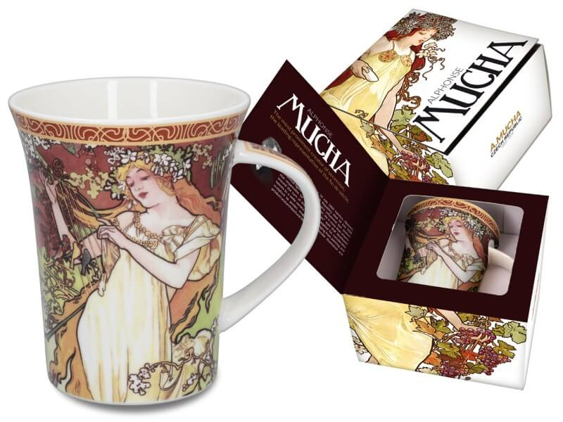 Hrnček Alfons Mucha 350 ml Jar, CARMANI